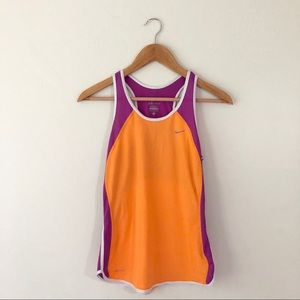 Nike Orange Purple Workout Tank